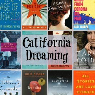 Collage of twelve novels all set in California.