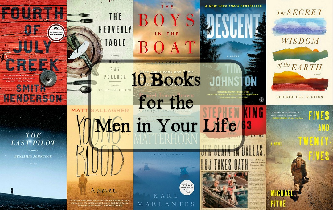 Books for Men - A carefully considered collection of books men will enjoy. The list includes books about war, family, space, history, and much more. Something for everyone!