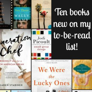 Collage of books new to my TBR list.