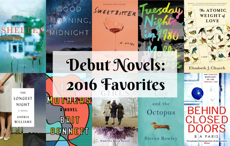 Debut Novels 2016 - 2016 was a great year for debut novels. There were so many new original voices in the publishing world. Here is a list on Novel Visits's favorites.
