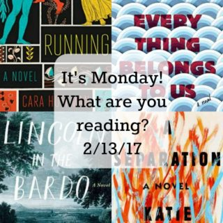 Collage of books I'm talking about in this week's It's Monday! post.
