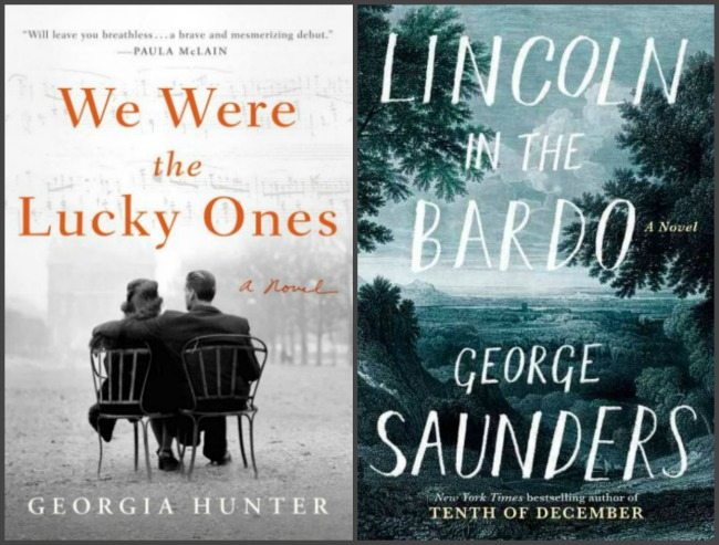 Covers of two books read last week. We Were the Lucky Ones and Lincoln in the Bardo.