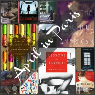 April in Paris Collage of Books