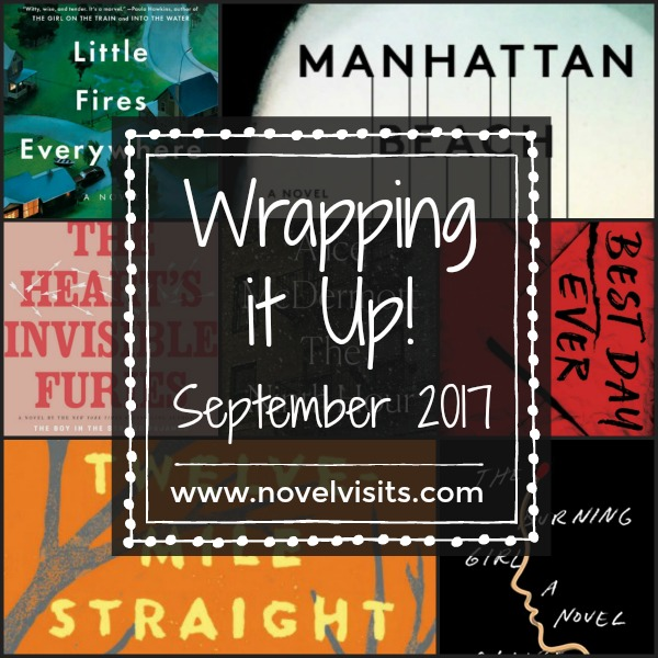 A look back at September 2017 on Novel Visits, including books read and reviewed, my favorite book of the month, and progress toward goals for the year.