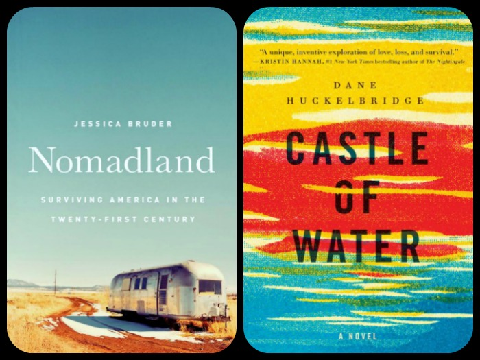 Nomad Land by Jessica Bruder and Castle of Water by Dane Huckelbridge