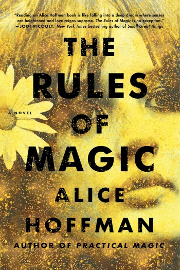 The Rules of Magic by Alice Hoffman follows three siblings who just happen to be witches as they navigate life & live with a family curse forbidding love.