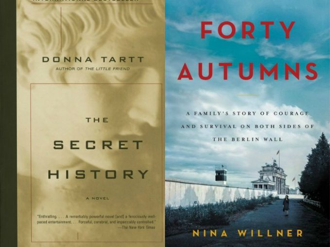 The Secret History by Donna Tartt and Forty Autumns by Nina Willner