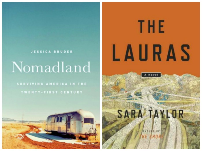 Nomadland by Jessica Bruder and The Lauras by Sara Taylor