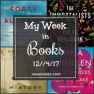 Novel Visits Monday Update: My Week in Books 12/4/17