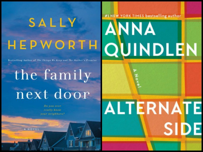 My Week in Books for 3/26/18: Currently Reading - The Family Next Door by Sally Hepworth and Alternate Side by Anna Quindlen
