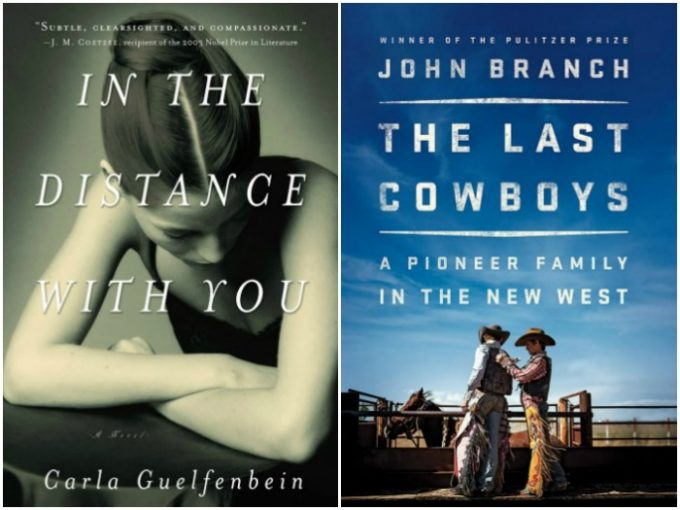 Novel Visits My Week in Books for 5/21/18: Likely to Read Next - In the Distance With You by Carla Guelfenbein and The Last Cowboys by John Branch