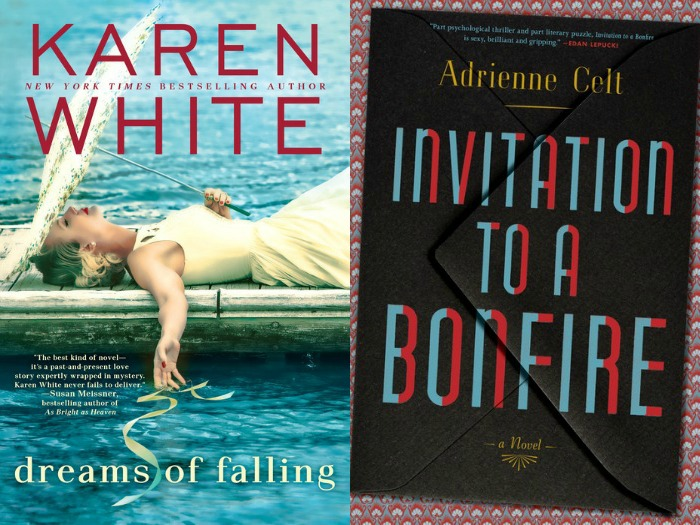 Novel Visits My Week in Books for 6/4/18: Likely to Read Next - Dreams of Falling by Karen White and Invitation to a Bonfire by Adrienne Celt