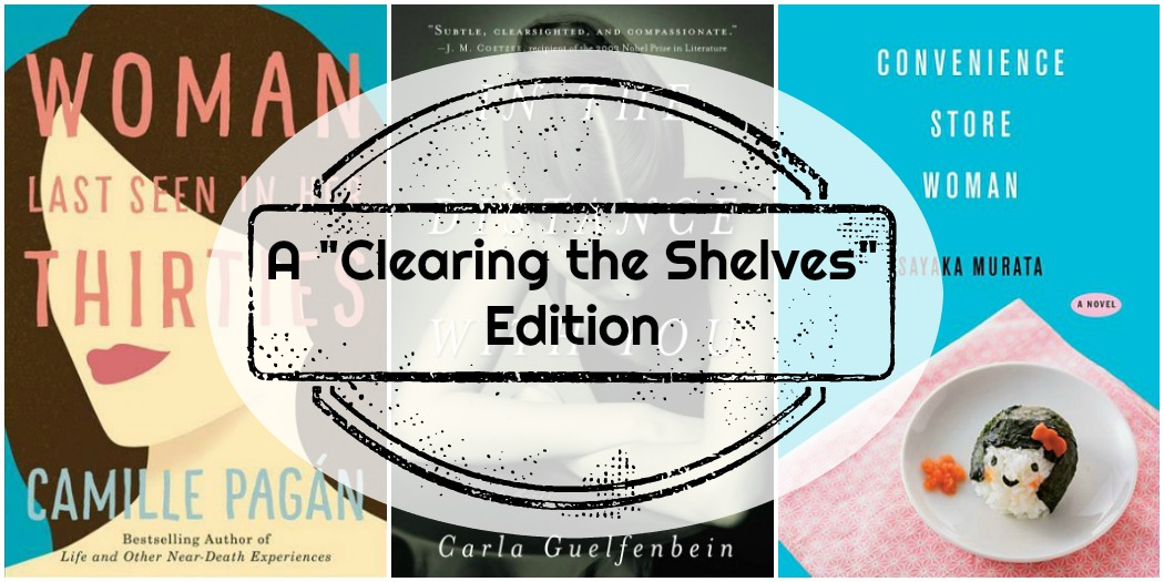 Novel Visits Mini-Reviews: A Clearing the Shelves Edition, Volume 2 - Woman Last Seen in Her Thirties by Camille Paga, In the Distance With You by Carla Guelfenbein and Convenience Store Woman by Sakaya Murata