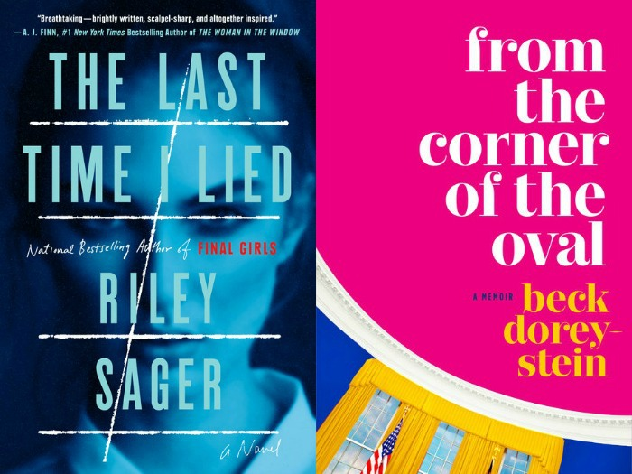 Novel Visits' My Week in Books for 7/16/18: Currently Reading - The Last Time I Lied by Riley Sager and From the Corner fo the Oval by Beck Dorey-Stein