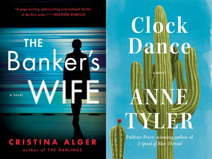 Novel Visits' My Week in Books for 7/16/18: Last Week's Reads - The Banker's Wife by Cristina Alger and Clock Dance by Anne Tyler