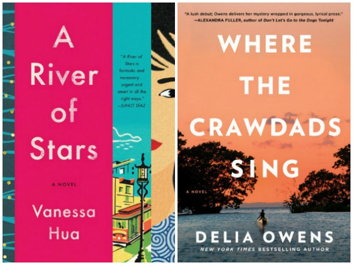 Novel Visits' My Week in Books for 7/23/18: Likely to Read next - A River of Stars by Vanessa Hua and Where the Crawdads Sing by Delia Owens