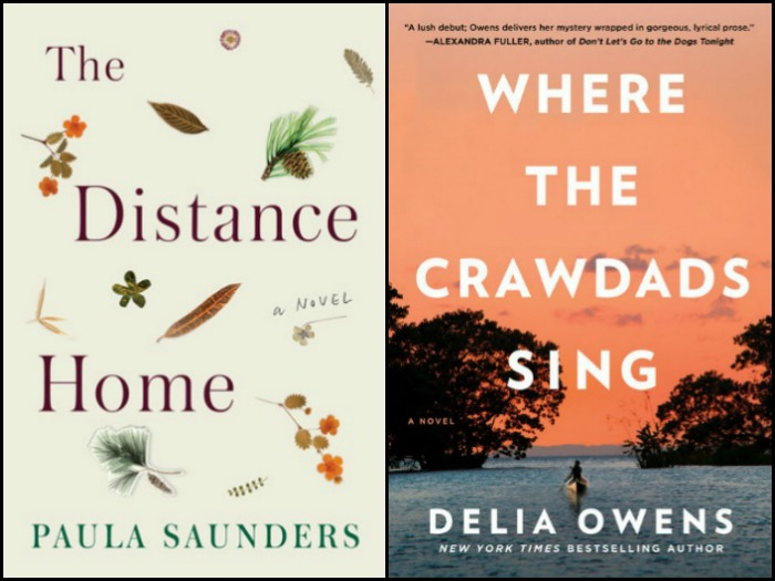Novel Visits' My Week in Books for 7/30/18: Likely to Read Next - The Distance Home by Paula Sanders and Where the Crawdads Sing by Delia Owens