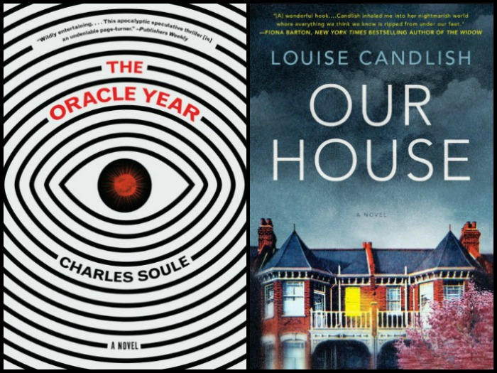 Novel Visits' My Week in Books for 8/13/18: Currently Reading - The Oracle Year by Charles Soule aand Our House by Louise Candlish