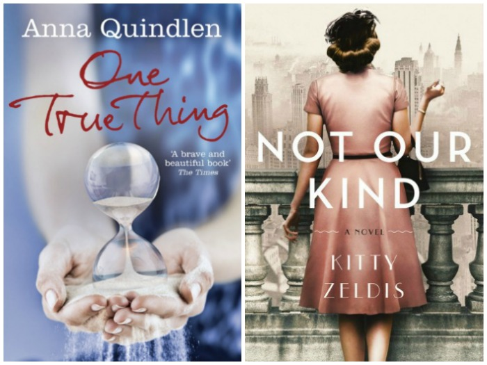 Novel Visits' My Week in Books for 8/27/18: Currently Reading - One True Thing by Anna Quindlen and Not Our Kind by Kitty Zeldis