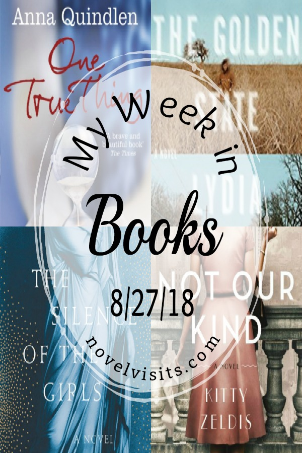 Novel Visits' My Week in Books for 8/27/18 - I didn't finish as many books as I'd hoped during my last week of summer freedom, but I did start to chip away at my pile of fall releases.