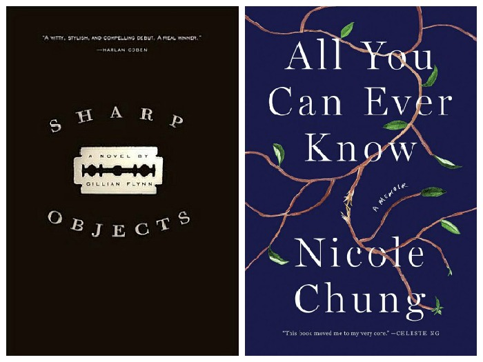 Novel Visits' My Week in Books for 9/24/18: Currently Reading - Sharp Objects by Gillian Flynn and All You Can Ever Know by Nicole Chung
