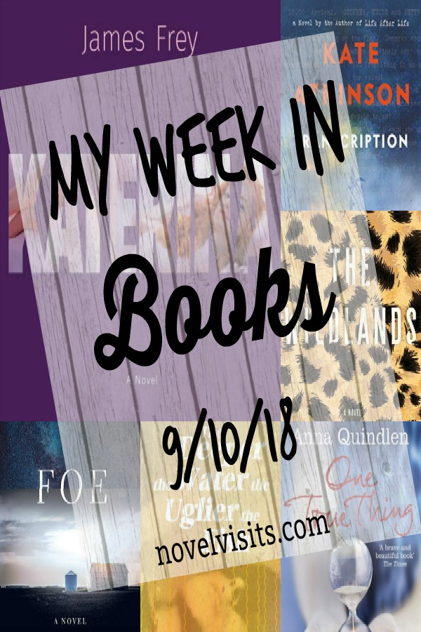 Novel Visits' My Week in Books for 9/10/18 - Last week's reading brought me a couple of pleasant surprises and now I'm moving on to the latest work of a favorite author.