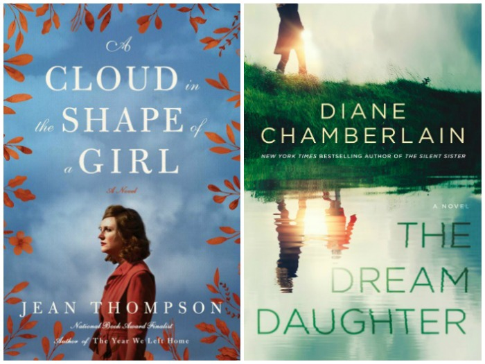 Novel Visits' My Week in Books for 10-8-18: Currently Reading - A Cloud in the Shape of a Girl by Jean Thompson and The Dream Daughter by Diane Chamberlain