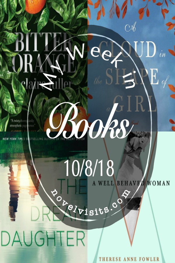 Novel Visits' My Week in Books for 10/8/18 - Sometimes life gets in the way, making last week was my slowest reading week ALL year. I hope to make up for it in the coming week with a couple of books that are really working for me.