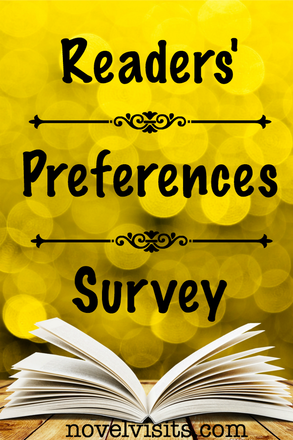 Novel Visits ~ Readers' Preferences Survey - 9 questions around the characteristics readers find most appealing about books AND those that just don't work. Stop on by and let me know how you feel.