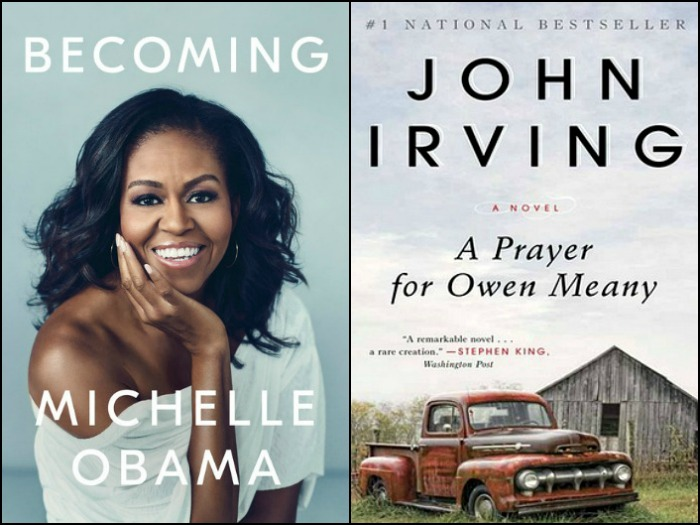 Novel Visits' My Week in Books for 11/19/18: Currently Reading - Becoming by Michelle Obama and A Prayer for Owen Meany by John Irving