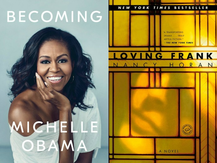 Novel Visits' My Week in Books for 11/26/18: Currently Reading Becoming by Michelle Obama and Loving Frank by Nancy Horan