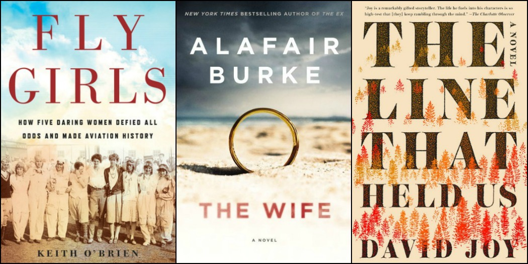 Novel Visits' My Week in Books for 11/19/18: Last Week's Reads - Fly Girls by Keith O'Brien, The Wife by Alafair Burke, and The Line That Held Us by David Joy