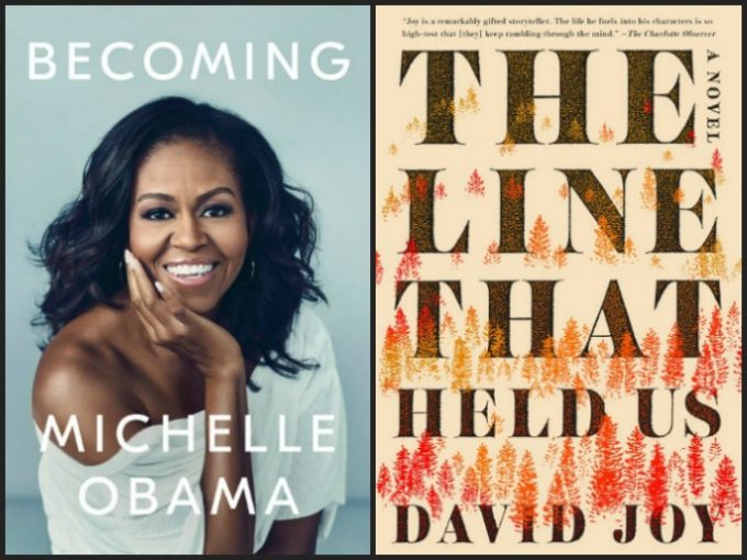 Novel Visits' My Week in Books for 11/12/18: Likely to Read Next - Becoming by Michelle Obama and The Line That Held Us by David Joy