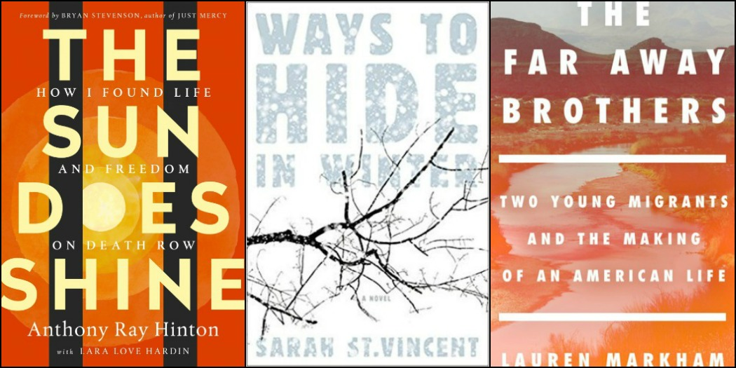 Novel Visits' My Week in Books for 11/19/18: Likely to Read Next - The Sun Does Shine by Anthony Ray Hinton, Ways to Hide in Winter by Sarah St. Vincent, and The Far Away Brothers by Lauren Markham