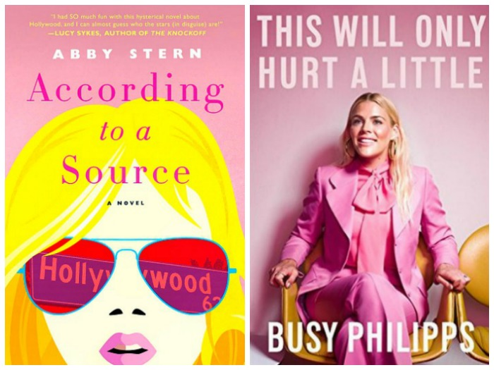 Novel Visits' Nonfiction November - Pairing Fiction with Nonfiction: Hollywood - According to a Source by Abby Stern and This Will Only Hurt a Little by Busy Philipps