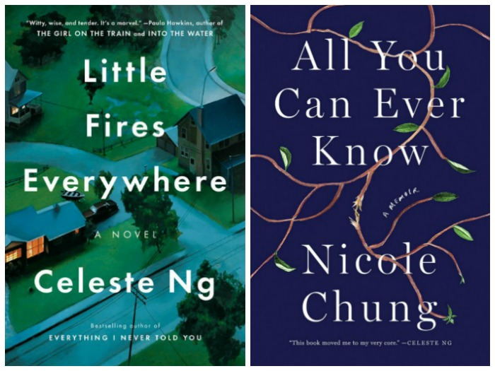 Novel Visits' Nonfiction November - Pairing Fiction with Nonfiction: Adoption - Little Fires Everywhere by Celeste Ng and All You Can Ever Know by Nicole Chung