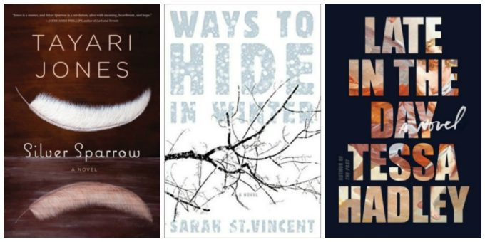 Novel Visits' Wrapping It Up! for December 2018: A Cut Above - Silver Sparrow by Tayari Jones, Ways to Hide in Winter by Sarah St. Vincent and Late in the Day by Tessa Hadley