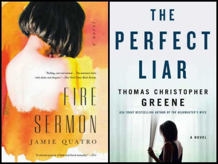 Novel Visits' My Week in Books for 12/24/18: Last Week's Reads - Fire Sermon by Jamie Quatro and The Perfect Liar by Thomas Christopher Greene