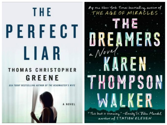 Novel Visits' Wrapping It Up! for December 2018: The Cream of the Crop - The Perfect Liar by Thomas Christopher Greene and The Dreamers by Karen Thompson Walker