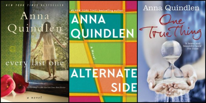 Novel Visits' New-to-Me Authors for 2018: Authors I couldn't Get Enough Of - Anna Quindlen's Every Last one, Alternate Side & One Tru Thing