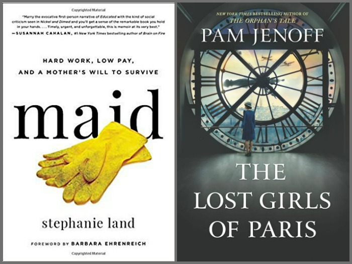 Novel Visits' My Week in Books for 1/28/19: Currently Reading - Maid by Stephanie Land and The Lost Girls of Paris by Pam Jenoff