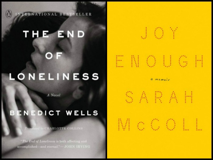 Novel Visits' My Week in Books for 1/14/19: Last Week's Reads - The End of Loneliness by Benedict Wells and Joy Enough by Sarah McColl