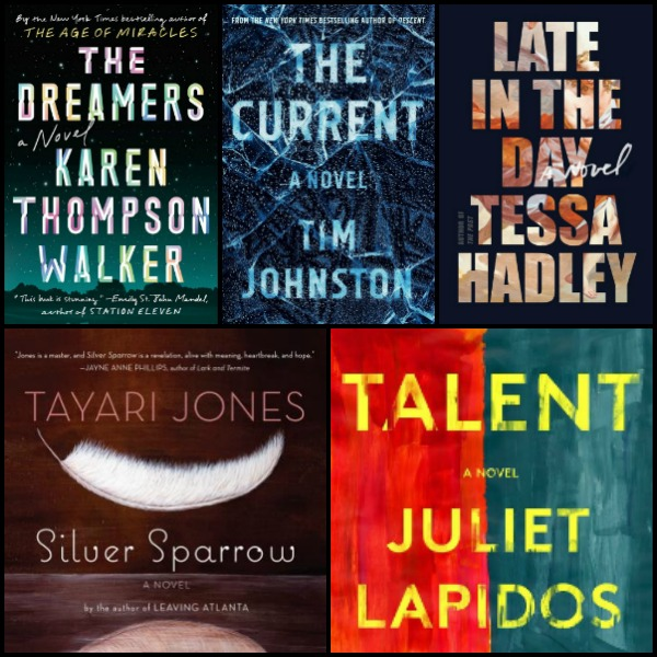 Novel Visits' My Week in Books for 1/7/19: Last Week's Reads - The Dreamers by Karen Thompson Walker, The Current by Tim Johnston, Late in the Day by Tessa Hadley, Silver Sparrow by Tayari Jones, Talent by Juliet Lapidos