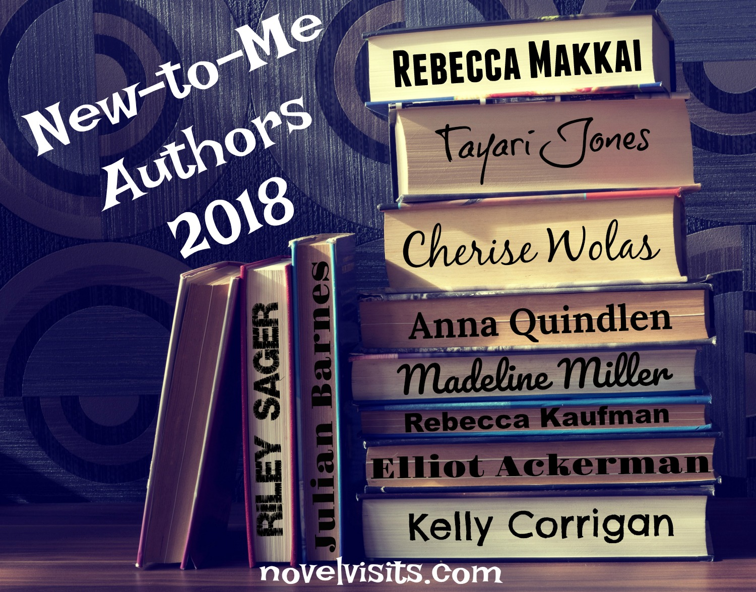 Novel Visits' New-to-Me Authors for 2018