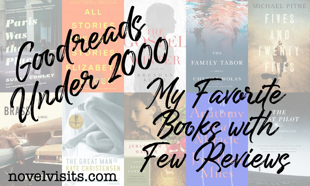 Novel Visits: Goodreads Under 2000 - My Favorite Books with Few Reviews