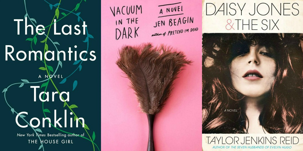 Novel Visits' My Week in Books for 2/18/19: Lat Week's Reads - The Last Romantics by Tara Conklin, Vacuum in the Dark by Jen Beagin and Daisy Jones and the Six by Taylor Jenkins Reid