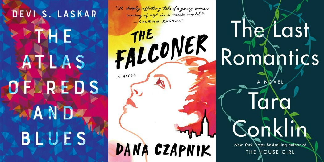 Novel Visits' My Week in Books for 2/4/19: Likely to Read Next - The Atlas of Reds and Blues by Devi S. Laskar, The Falconer by Dana Czapnik, The Last Romantics by Tara Conklin
