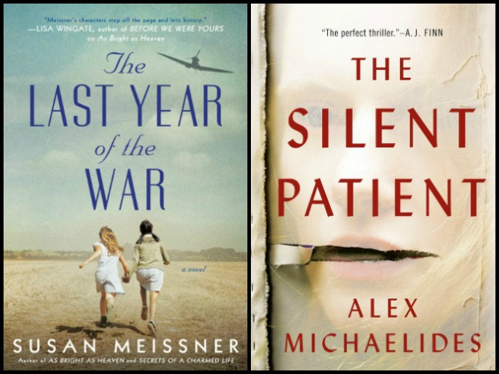 Novel Visits' My Week in Books for 3/11/19: Last Week's Reads - The Last Year of the War by Susan Meissner and The Silent Patient by Alex Michaelides