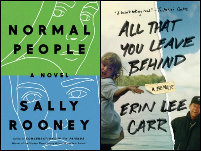 My Week in Books for 4/15/19: Currently Reading - Normal People by Sally Rooney and All That You Leave Behind by Erin Lee Carr
