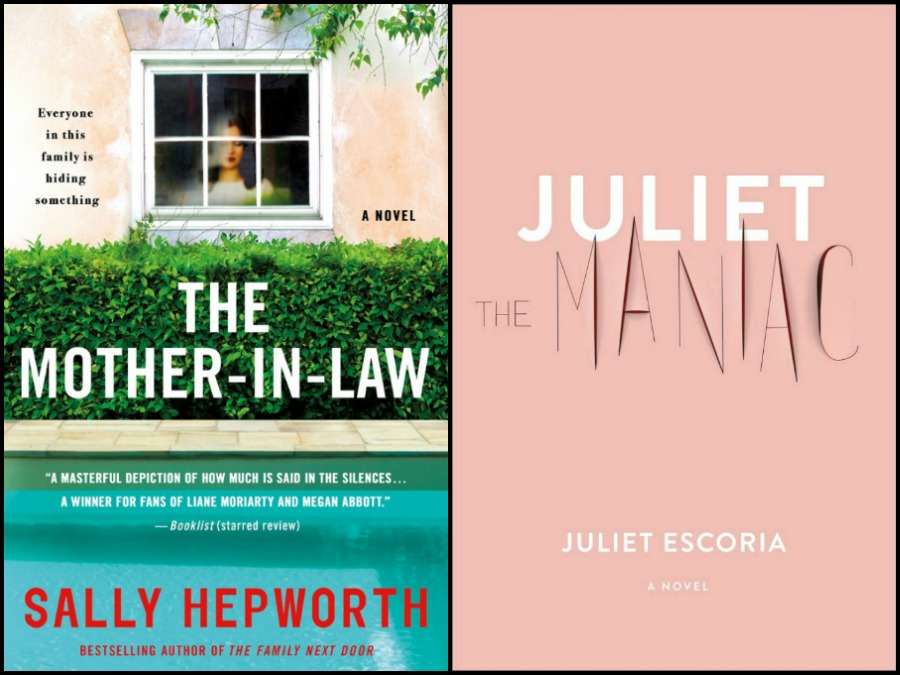 Novel Visits' My Week in Books for 4/29/19: Currently Reading - The Mother-In-Law by Sally Hepworth and Juliet the Maniac by Juliet Escoria